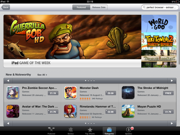The iPad App Store - the iOS pricing model has seen a phenomenal attach rate