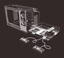 NES + TV Wireframe