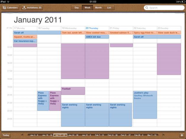 Multiple Google Calendars on iPad