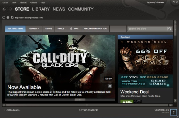 Steam - PC market leader, but not the cheapest way to get games
