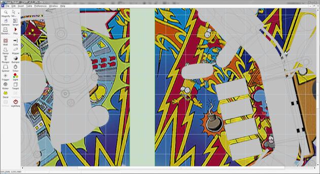 The Visual Pinball edit window