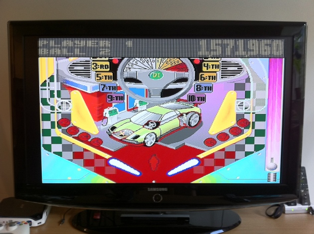 Pinball Fantasies as it was never meant to be seen - on a 40 inch LCD screen