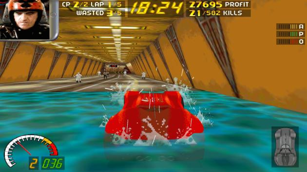 Carmageddon is one of few games where you can drive underwater.