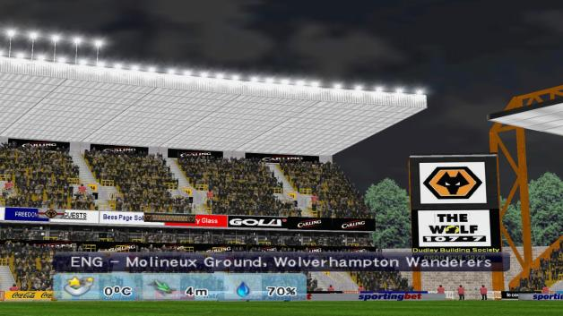 At last, Molineux in a football game!