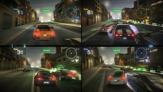 Four-way splitscreen, it's like the Nintendo 64 never left us