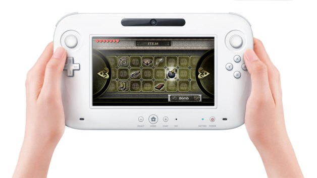 The New Wii U controller in all it's slightly plasticky glory